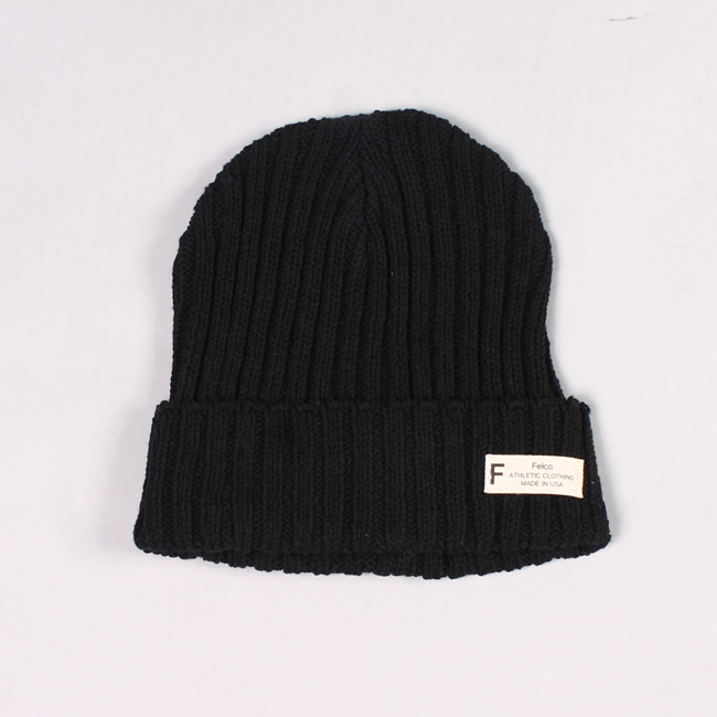 KNIT WATCHCAP MADE IN USA - BLACK