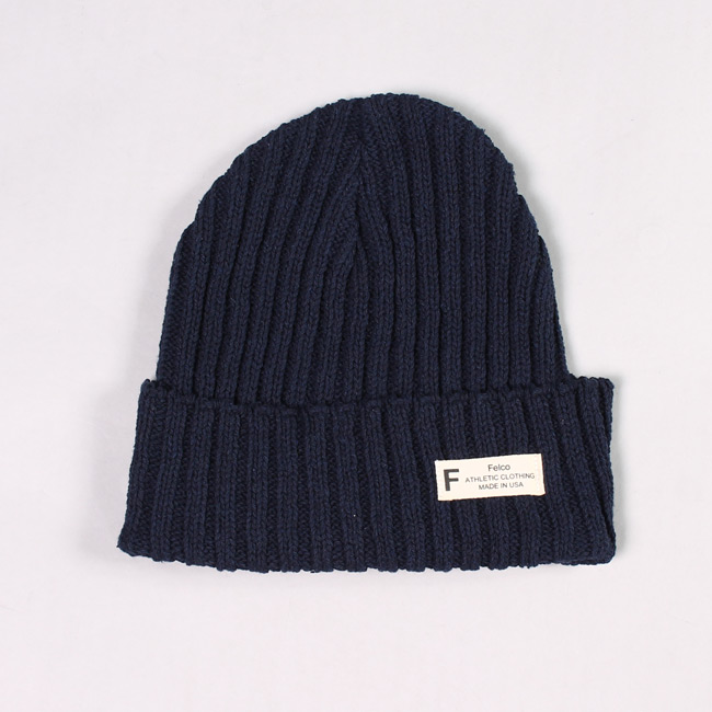 KNIT WATCHCAP MADE IN USA - MARINE