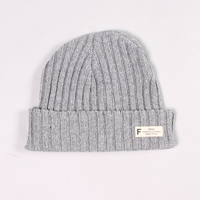 KNIT WATCHCAP MADE IN USA - OXFORD