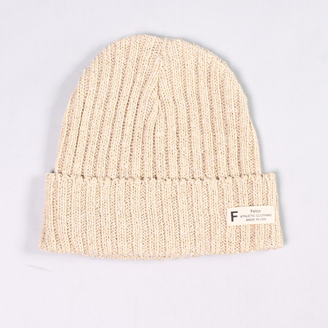 KNIT WATCHCAP MADE IN USA - LINEN