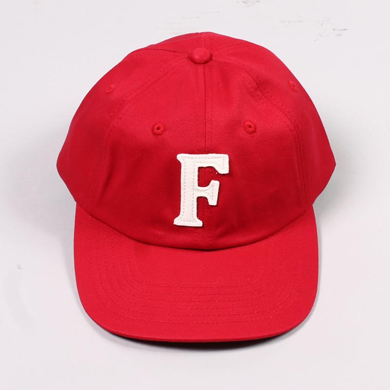 TWILL BB CAP - RED / F NATURAL