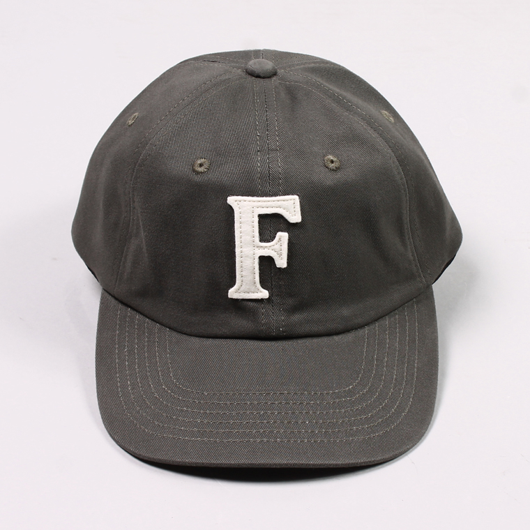 TWILL BB CAP - CHARCOAL / F NATURAL