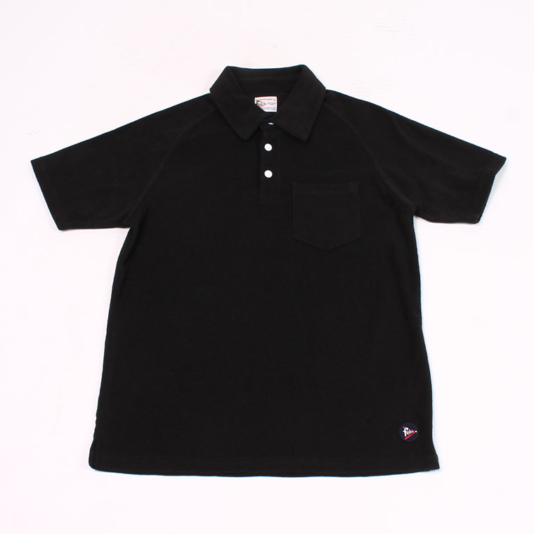S/S PILE POLO SHIRT - BLACK