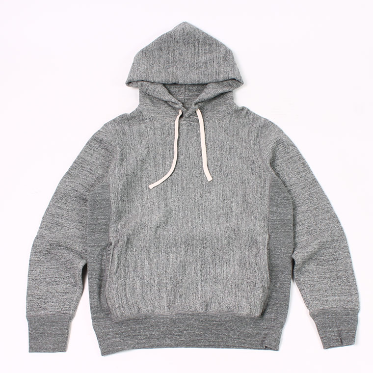 16oz NEW HEAVY WEIGHT TERRY INVERSE WEAVE SWEAT HOODED PULLOVER - CHARCOAL HEATHER