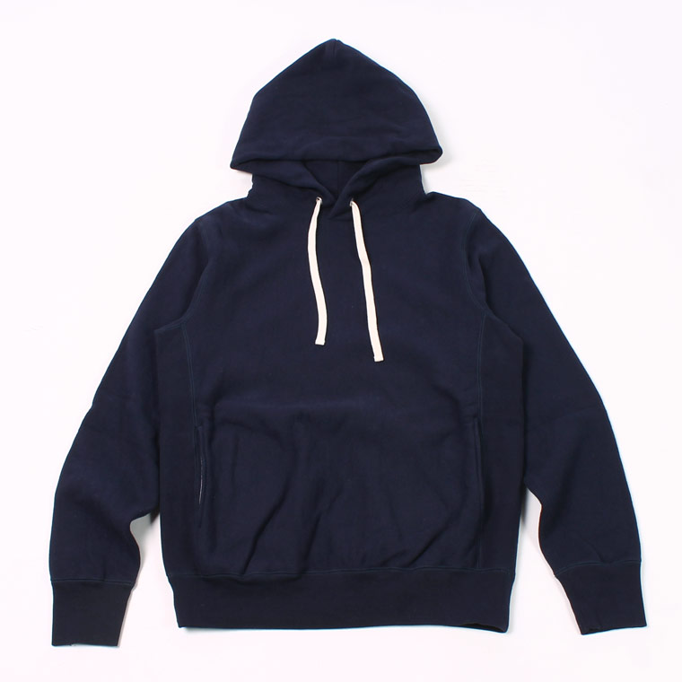 16oz NEW HEAVY WEIGHT TERRY INVERSE WEAVE SWEAT HOODED PULLOVER - ITALIAN NAVY