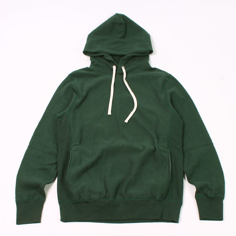 16oz NEW HEAVY WEIGHT TERRY INVERSE WEAVE SWEAT HOODED PULLOVER - DK GREEN
