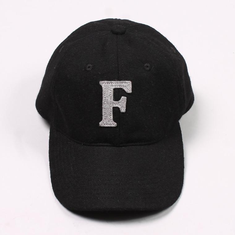 WOOL 6 PANNEL BASEBALL CAP - BLACK / F GREY HEATHER