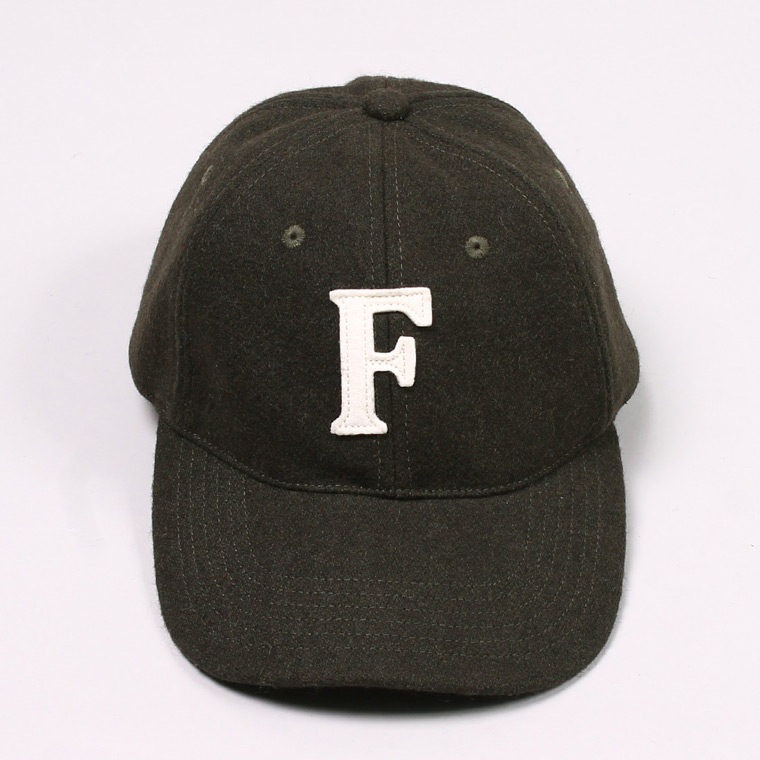 WOOL 6 PANNEL BASEBALL CAP - OLIVE / F NATURAL