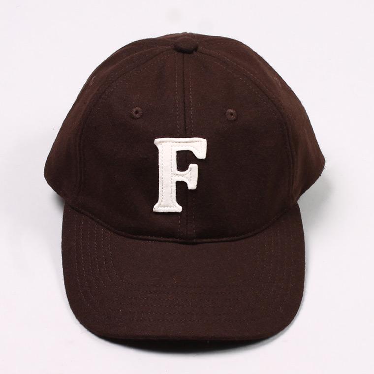 WOOL 6 PANNEL BASEBALL CAP - BROWN / F NATURAL