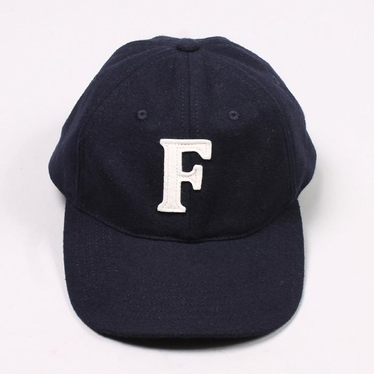 WOOL 6 PANNEL BASEBALL CAP - NAVY / F NATURAL