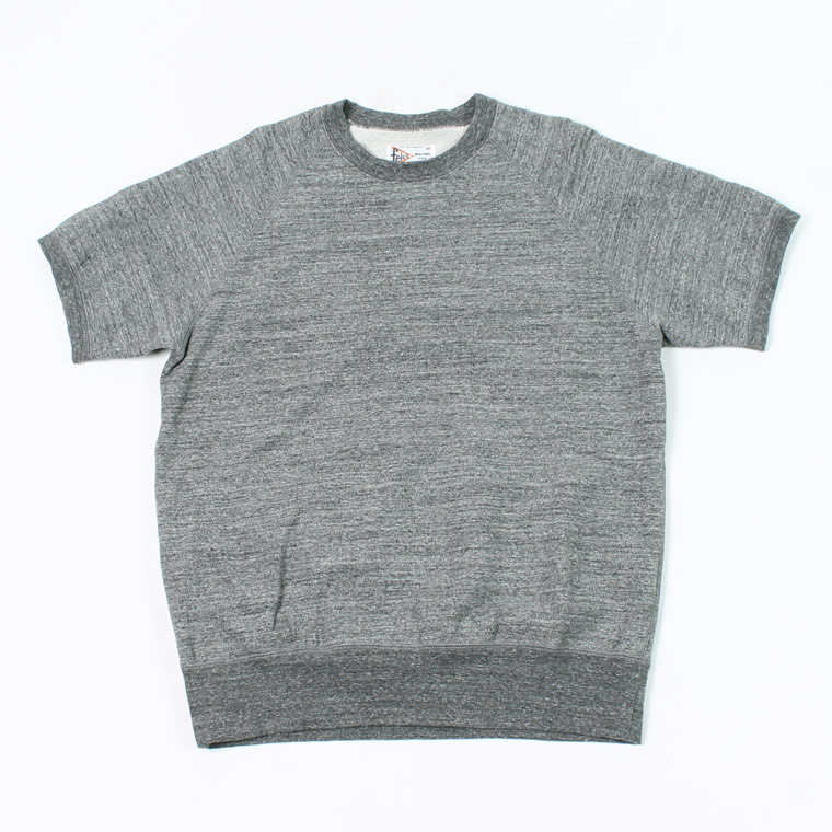 S/S RAGLAN SWEAT LT WEIGHT FRENCH TERRY - HEATHER CHARCOAL