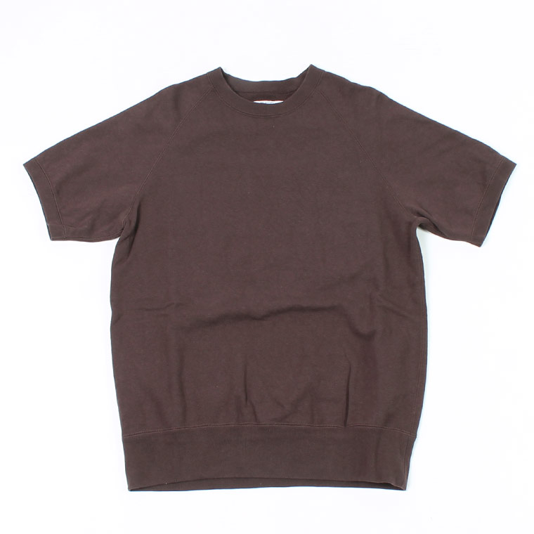 S/S RAGLAN SWEAT LT WEIGHT FRENCH TERRY - FADED COFFEE