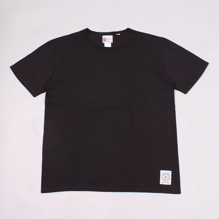 S/S CREW NECK POCKET T SHIRT - BLACK