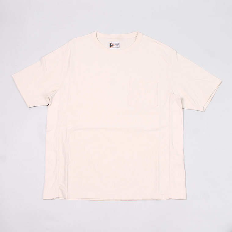S/S INVERSE WEAVE TEE - NATURAL