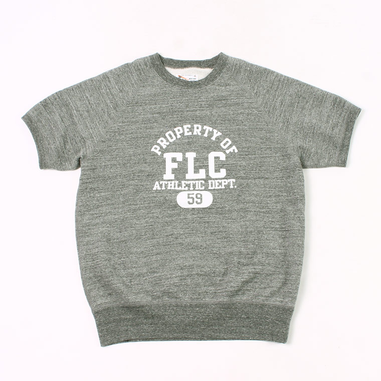 S/S RAGLAN SWEAT LT WEIGHT FRENCH TERRY PROPERTY OF FLC PRINT - HEATHER CHARCOAL