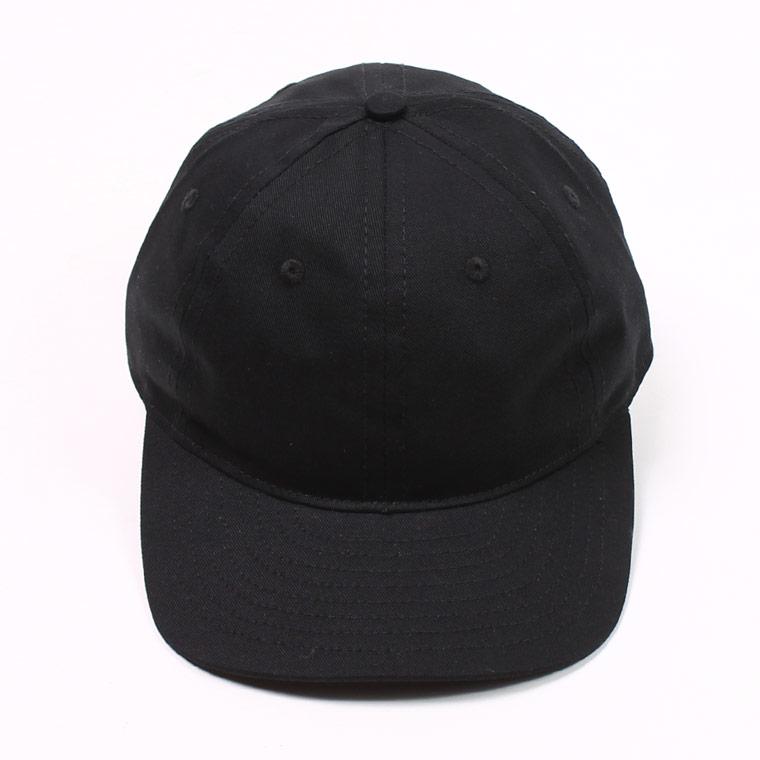 TWILL 6 PANEL BB CAP MADE IN U.S.A. - BLACK