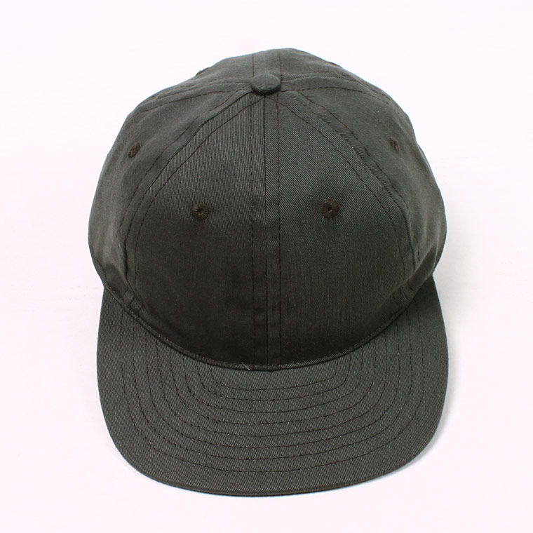 TWILL 6 PANEL BB CAP MADE IN U.S.A. - CHARCOAL