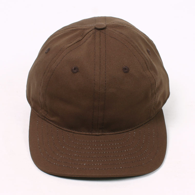 TWILL 6 PANEL BB CAP MADE IN U.S.A. - BROWN