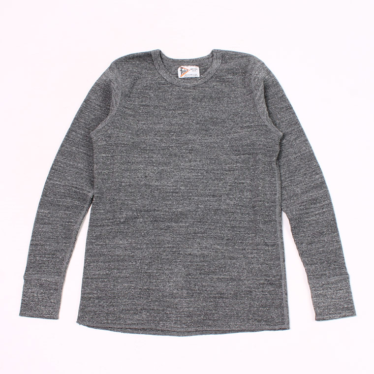 L/S HEAVY WEIGHT THERMAL CREW NECK - CHARCOAL HEATHER
