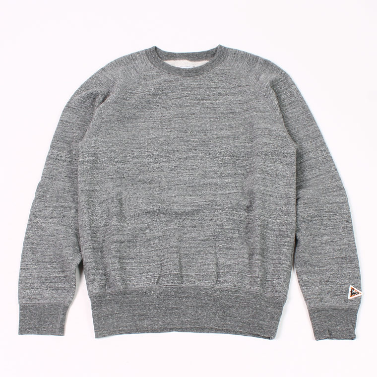L/S RAGLAN SWEAT 12oz LT WEIGHT FRENCH TERRY - HEATHER CHARCOAL