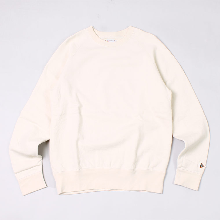 L/S RAGLAN SWEAT 12oz LT WEIGHT FRENCH TERRY - NATURAL