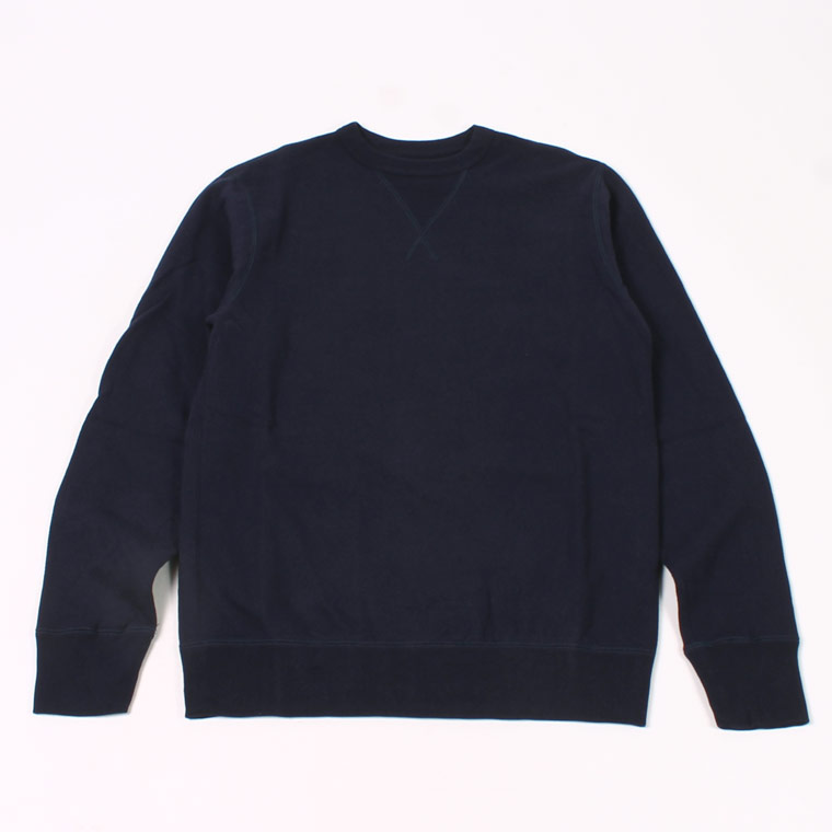 L/S SET IN SLEEVE V GUSSET CREW NECK SWEAT SHIRT -  12oz LIGHT Weight  French Terry - ITALIAN NAVY