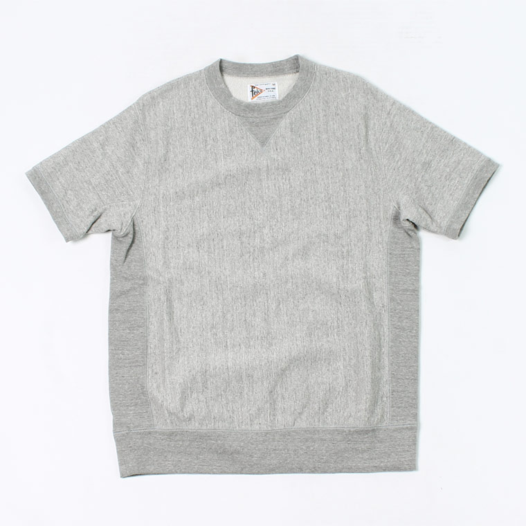 S/S INVERSE WEAVE SWEAT 12oz LT WEIGHT FRENCH TERRY - HEATHER GREY