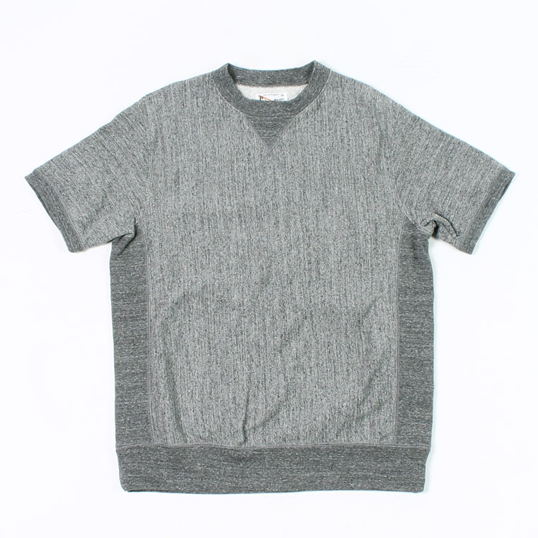 S/S INVERSE WEAVE SWEAT 12oz LT WEIGHT FRENCH TERRY - HEATHER CHARCOAL