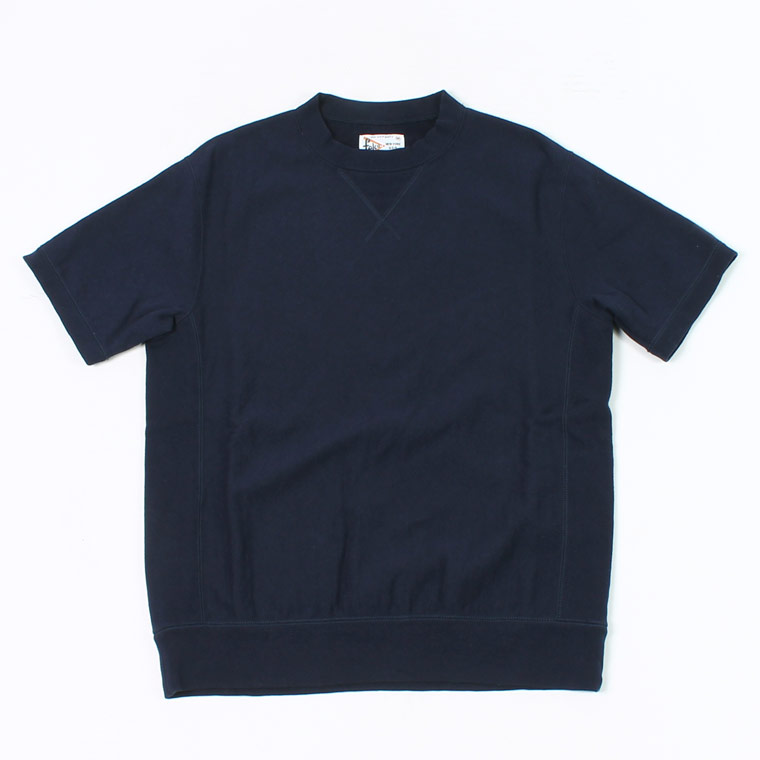 S/S INVERSE WEAVE SWEAT 12oz LT WEIGHT FRENCH TERRY - ITALIAN NAVY