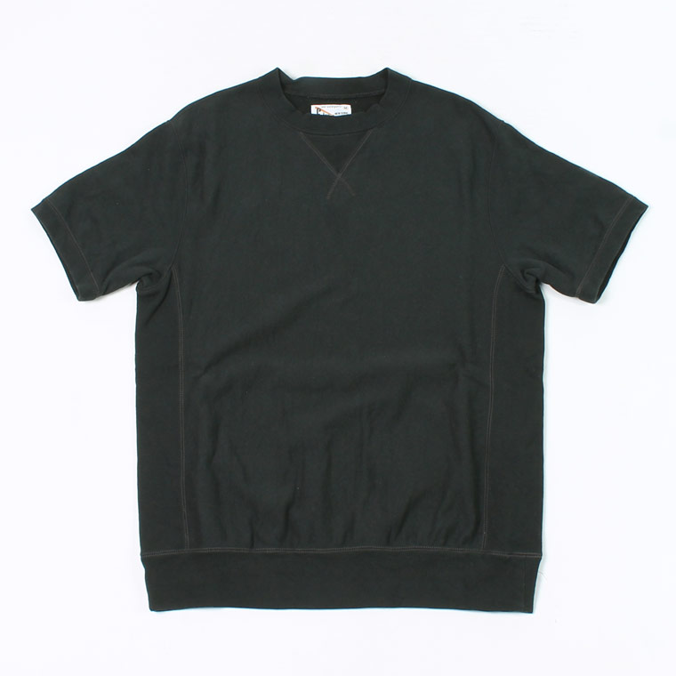 S/S INVERSE WEAVE SWEAT 12oz LT WEIGHT FRENCH TERRY - BLACK