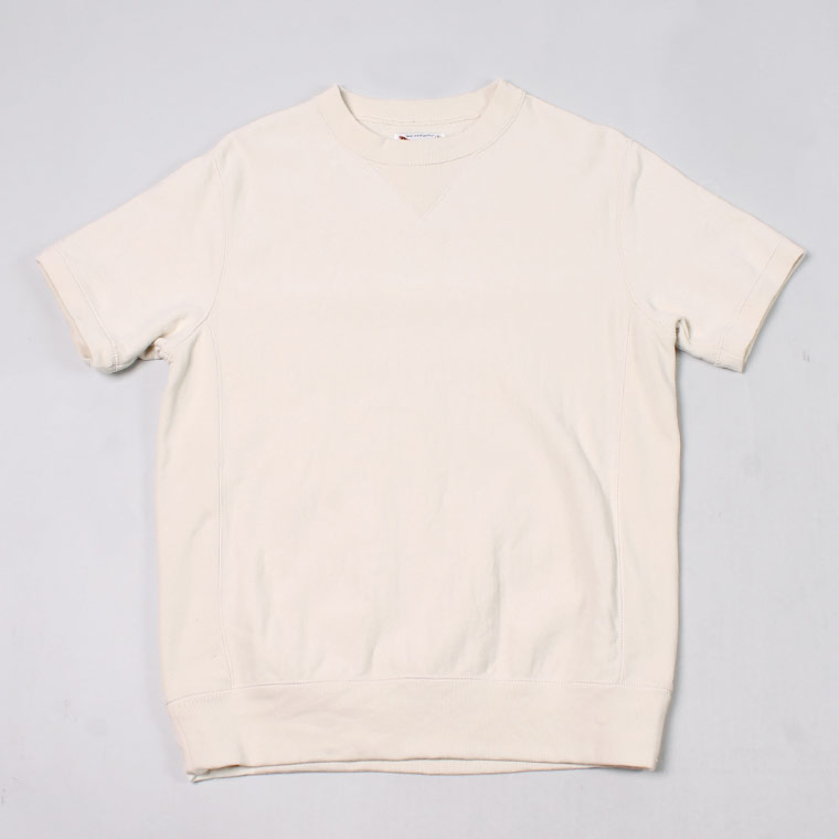 S/S INVERSE WEAVE SWEAT 12oz LT WEIGHT FRENCH TERRY - NATURAL