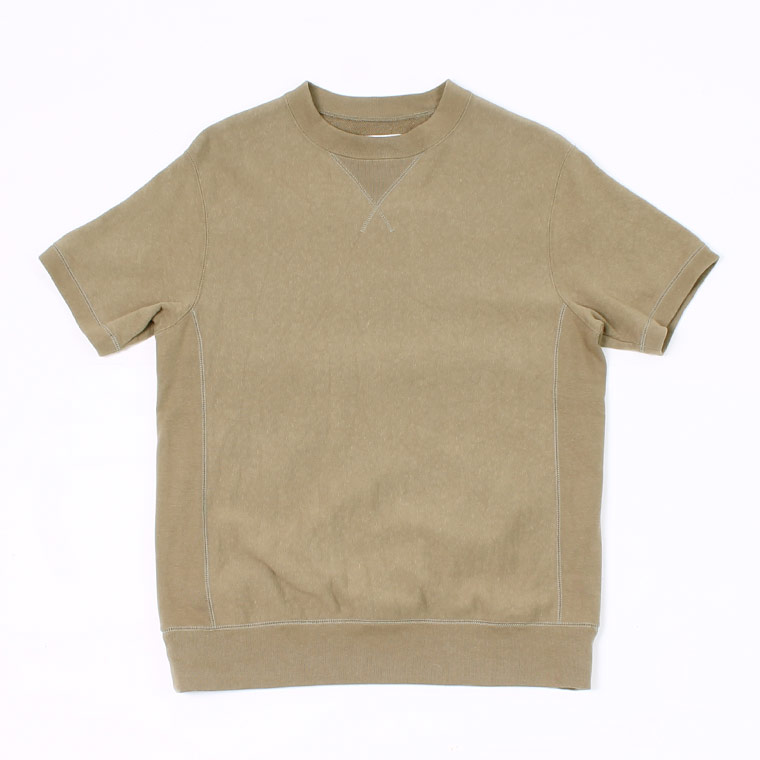 S/S INVERSE WEAVE SWEAT 12oz LT WEIGHT FRENCH TERRY - BRITSH KHAKI