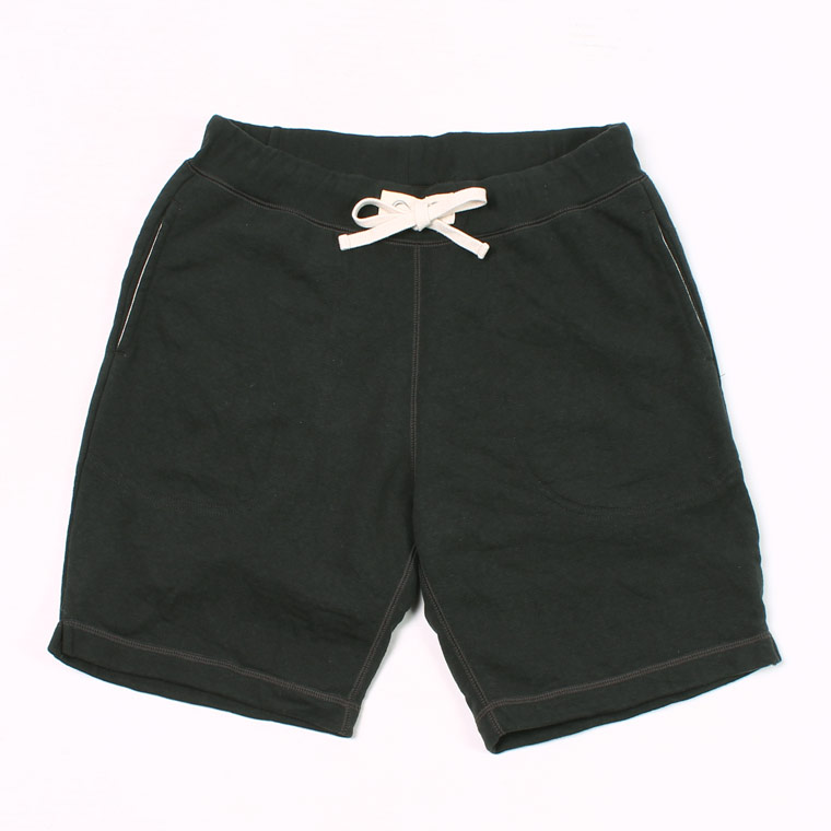 SWEAT GYM SHORT 12oz LT WEIGHT FRENCH TERRY - BLACK