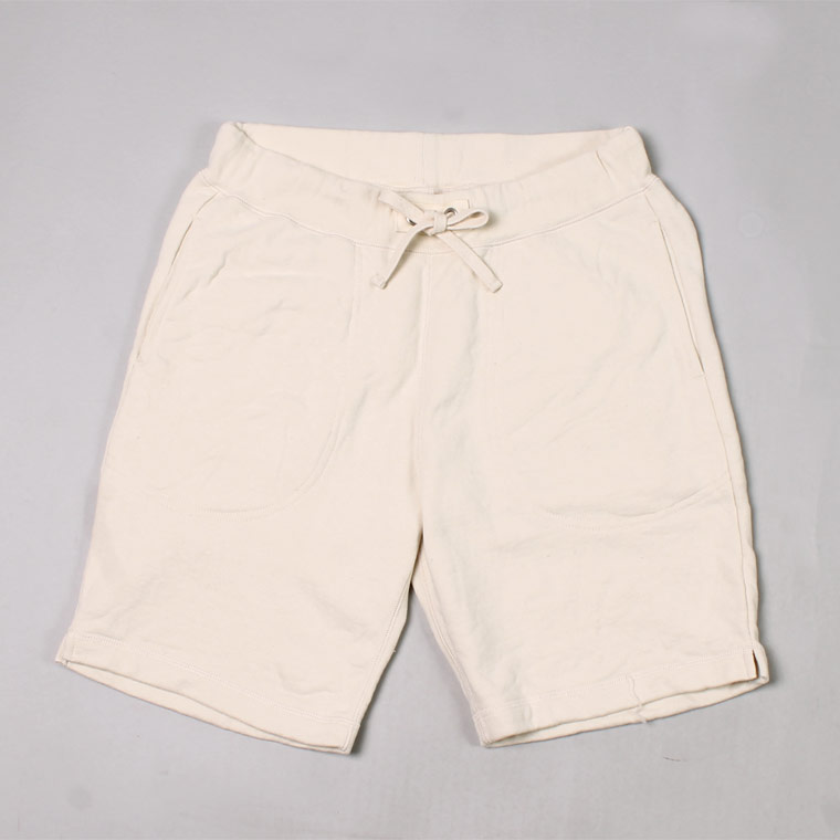 SWEAT GYM SHORT 12oz LT WEIGHT FRENCH TERRY - NATURAL