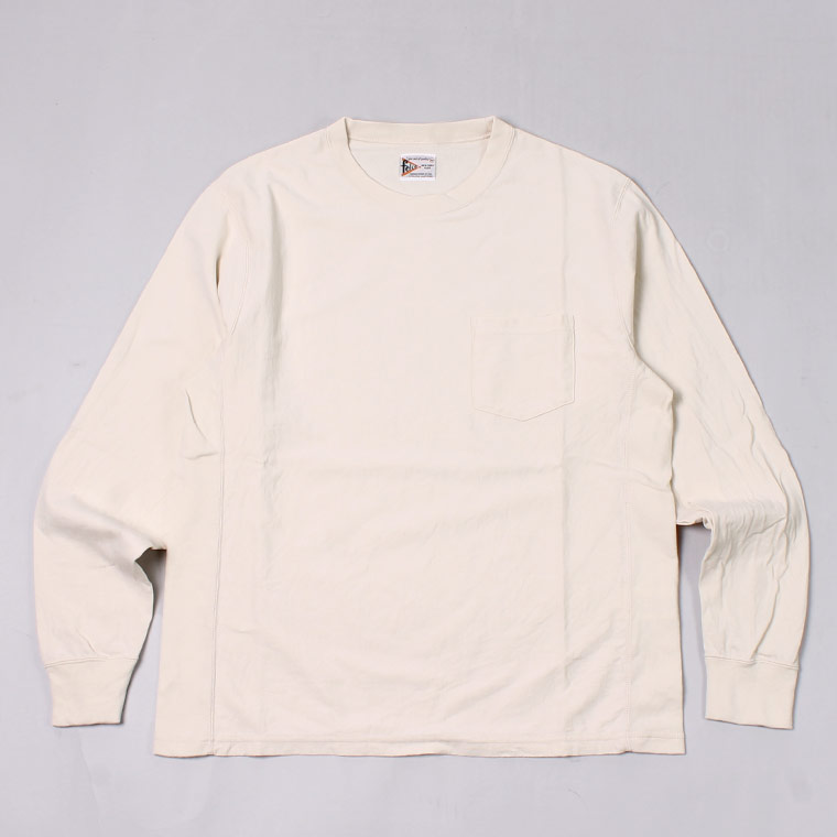 L/S NEW INVERSE WEAVE TEE 7oz 18SINGLE JERSEY - NATURAL