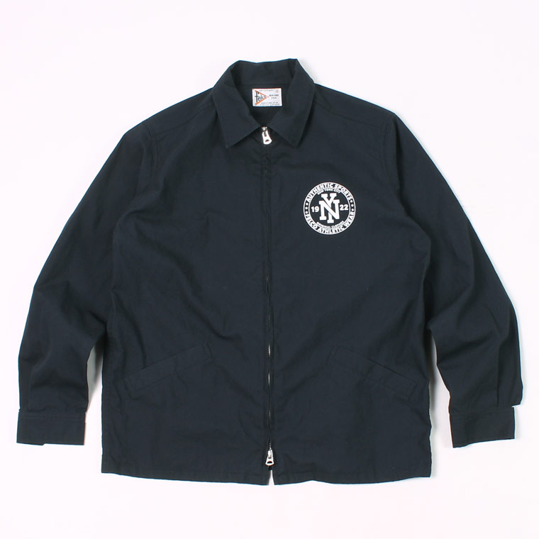 COTTON SPORTS PRINTED JACKET VENTILE GEAR HIGH DENSITY OX WATER REPELLENT - NAVY_NY CIRCLE RUBBER PRINT