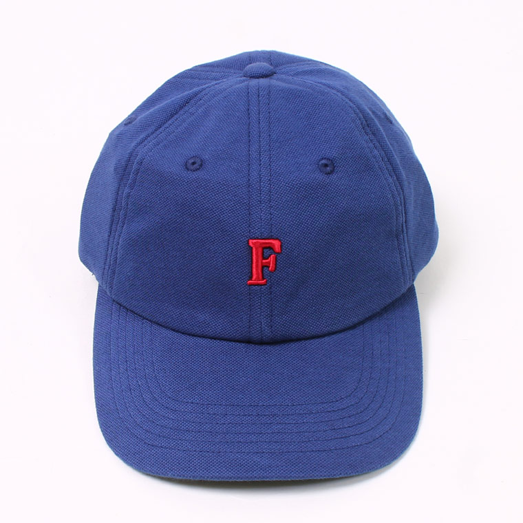 PIQUE BB CAP w/ SMALL EMBROIDERY - BRIGHT NAVY_F_DK RED