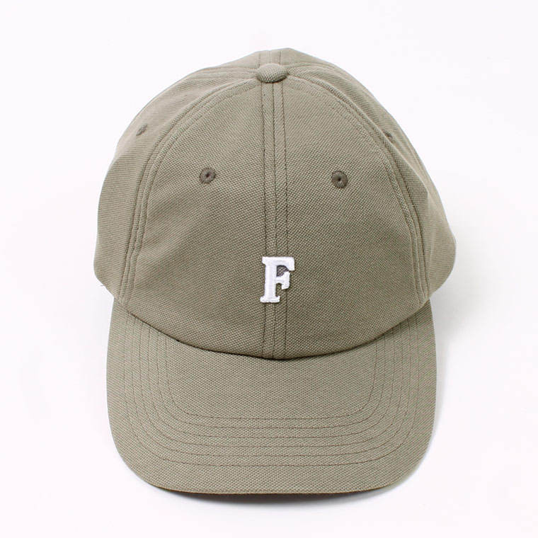 PIQUE BB CAP w/ SMALL EMBROIDERY - GREY_F_NATURAL