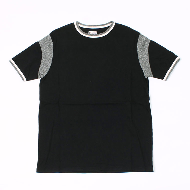 DOUBLE RINGER OLD BASKET BALL T 19SINGLE RUFFI JERSEY - BLACK_CHARCOAL