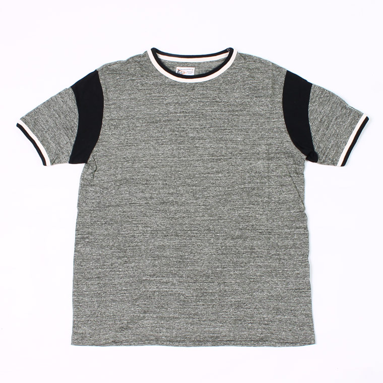 DOUBLE RINGER OLD BASKET BALL T 19SINGLE RUFFI JERSEY - CHARCOAL_BLACK