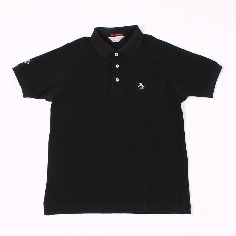 Munsingwear x FELCO S/S 60'S RAGLAN SLEEVE POLO - BLACK