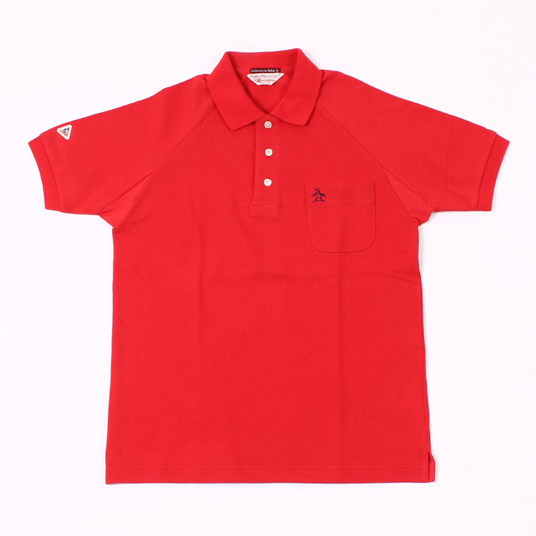 Munsingwear x FELCO S/S 60'S RAGLAN SLEEVE POLO - RED