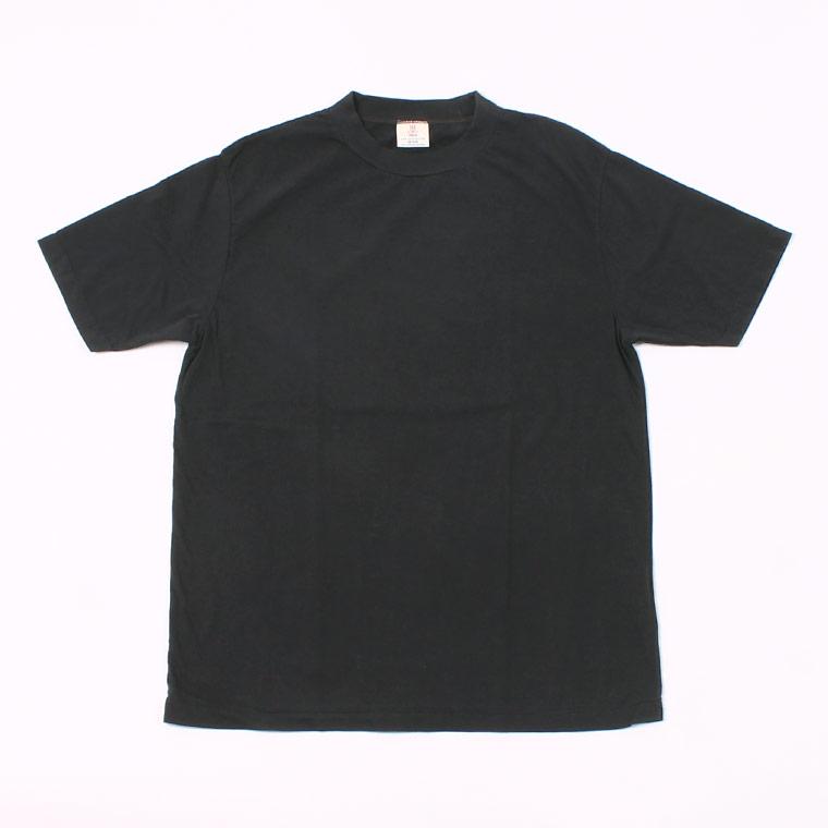 S/S HI CREW TEE 30s USA COTTON - BLACK