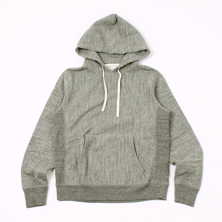 12oz TERRY INVERSE WEAVE PULLOVER PARKA - CHARCOAL HEATHER