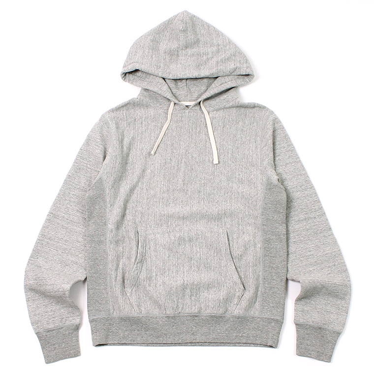 12oz FRENCH TERRY INVERSE WEAVE PULLOVER PARKA W/KANGAROO POCKET - GREY HEATHER